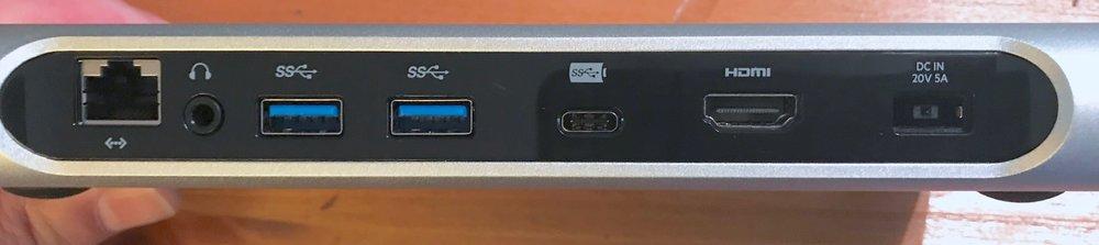 Back of the Belkin USB-C 3.1 Express Dock HD. Photo © 2017, Steven Sande