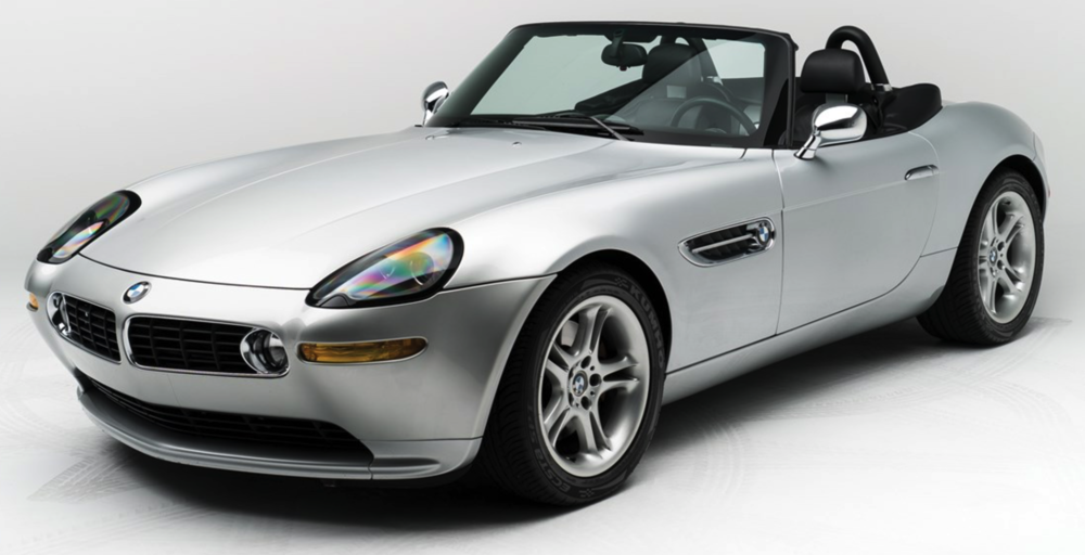 The BMW Z8 that once belonged to Steve Jobs. Photo via  RMSothebys.com