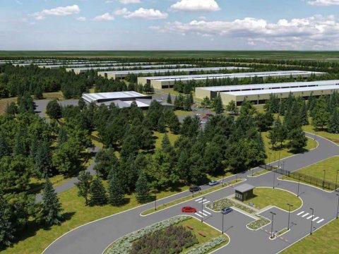 "Computer-generated image of Apple's upcoming data center in Ireland — courtesy of ""Business Week"""