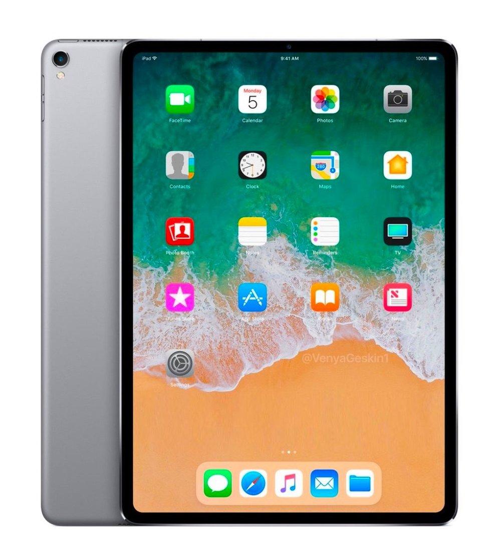 2018 iPad Pro concept render by Benjamin Geskin
