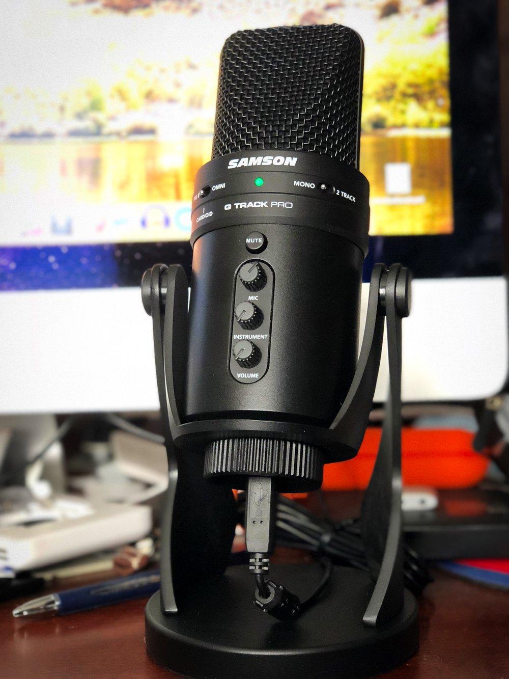 Samson G Track Pro USB Studio Microphone. Image © 2017, Steven Sande