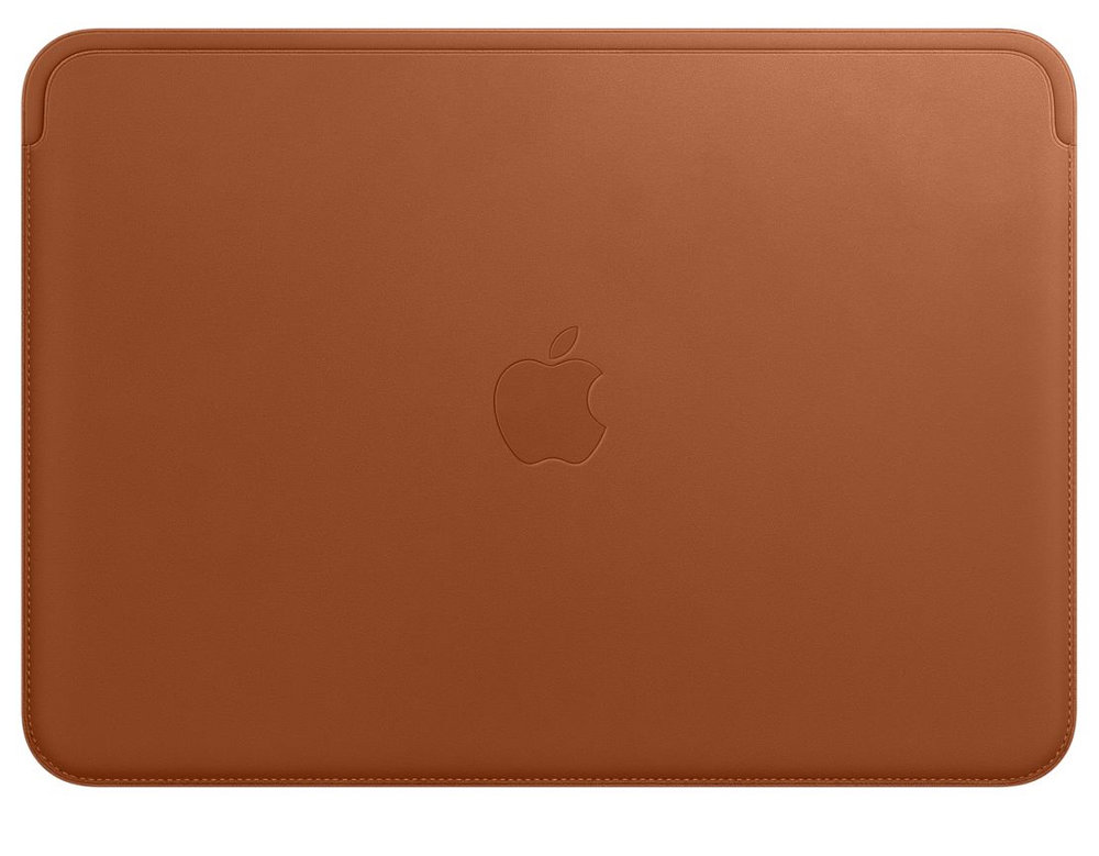 Apple's leather sleeve for the 12-inch MacBook has a handsome, flawless design