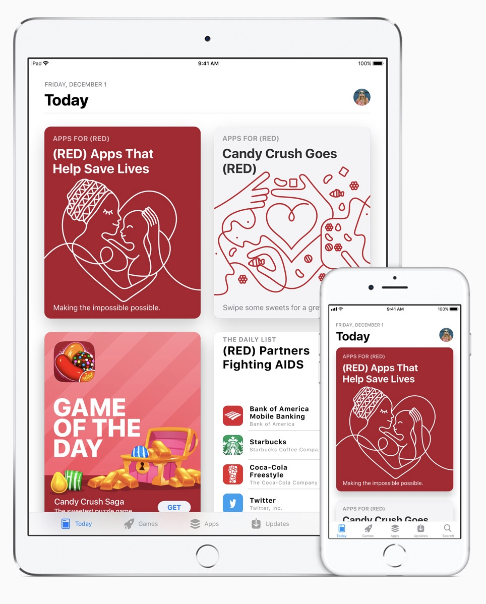 On World AIDS Day, App Store customers will see a Today tab takeover around the world.