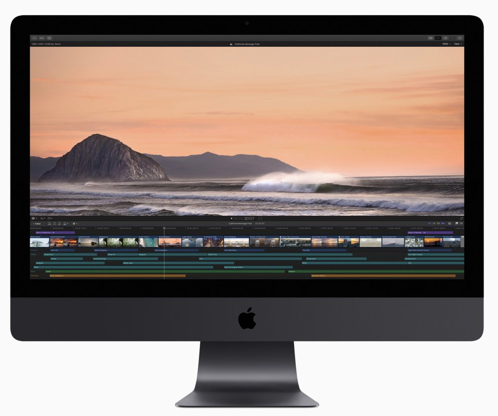 Final Cut Pro X leverages the raw power of the iMac Pro.