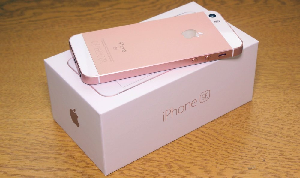 Rose Gold iPhone SE