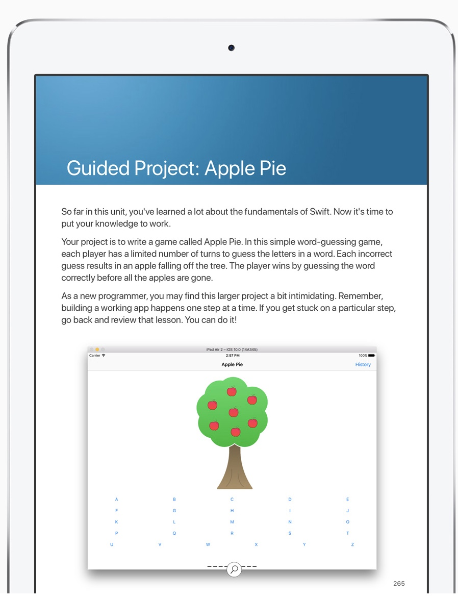 The App Development with Swift curriculum was developed by Apple engineers and educators to teach coding to students of all levels. -- Image courtesy of Apple
