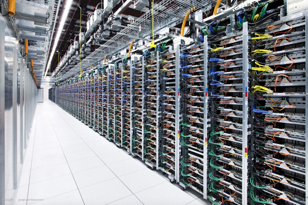 Image of Google Oklahoma data center courtesy of Google