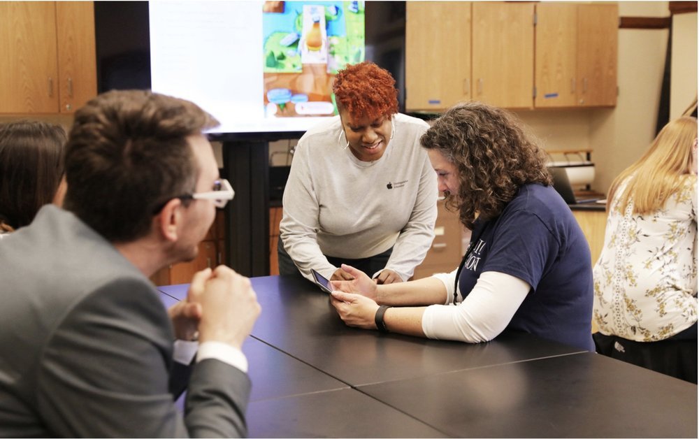 A new teaching and learning hub will introduce high school teachers to Apple's Everyone Can Code curriculum. — Photo courtesy of Apple