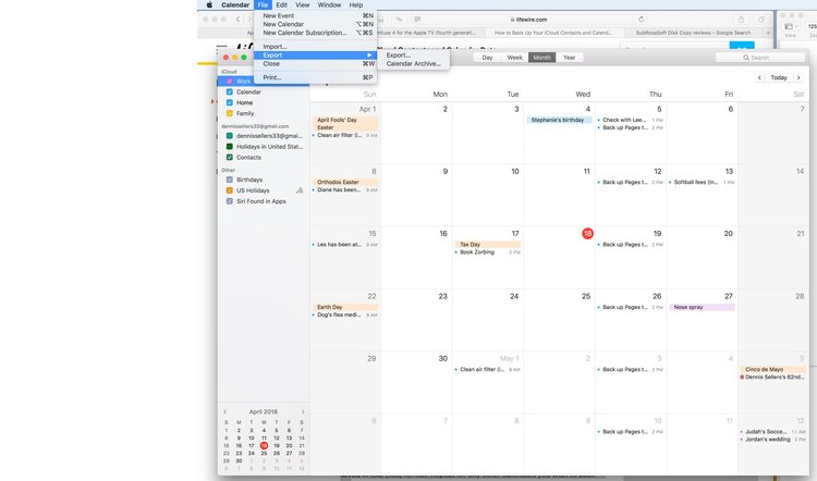 How To Back Up Calendars In MacOS High Sierra Apple World Today