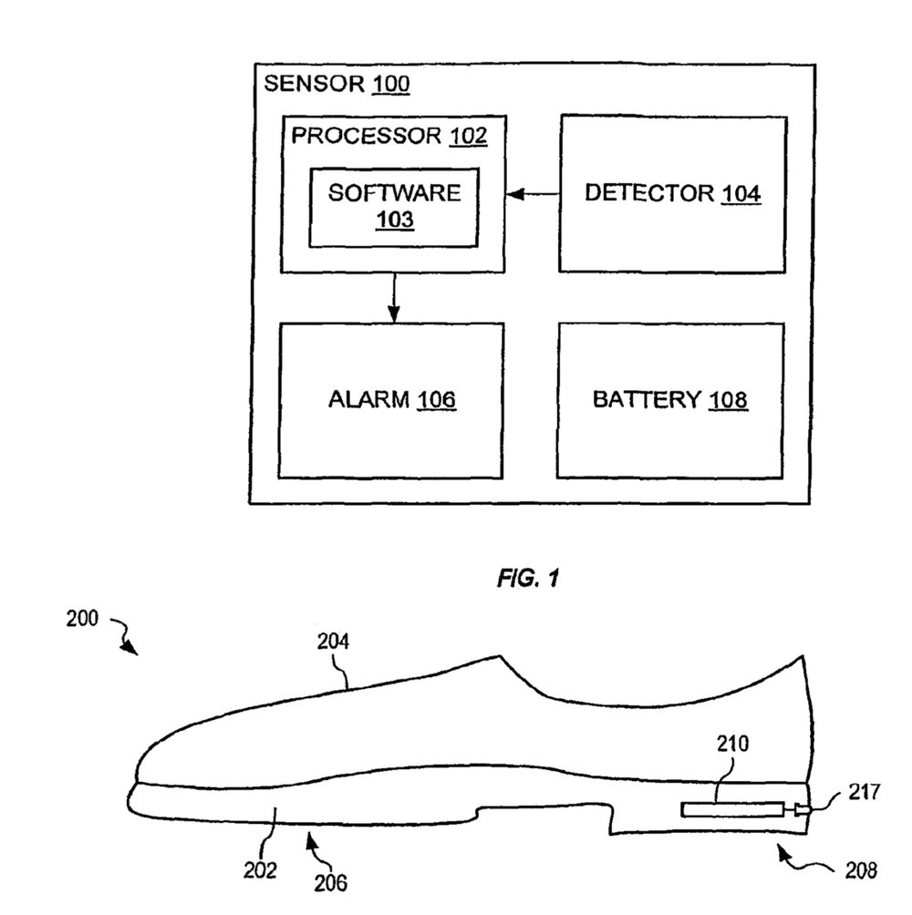 photo image Apple wants to save your sole; patent is for a 'shoe wear-out' detection system