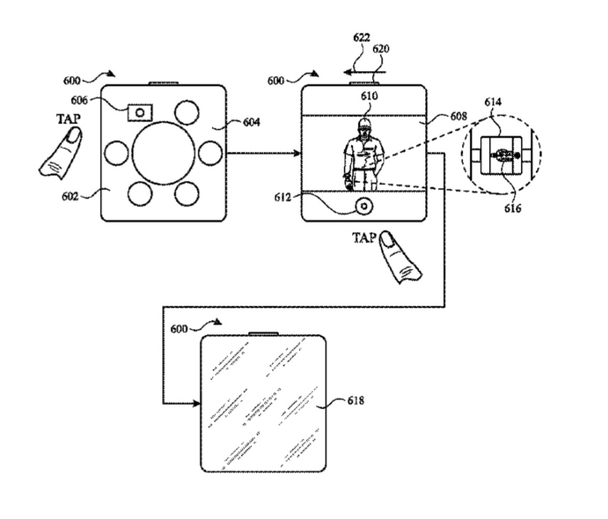 photo image Apple patent is for a remote camera user interface for taking 'selfies'