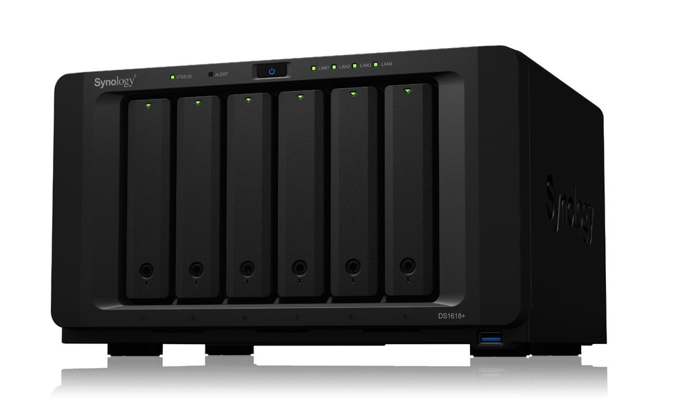 photo image Synology introduces DiskStation DS1618+, a six-bay NAS