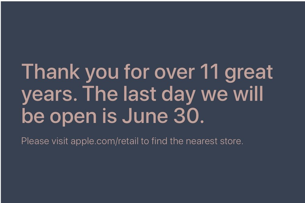 Apple The Pier retail store in Atlantic City, N.J., to close on June 30
