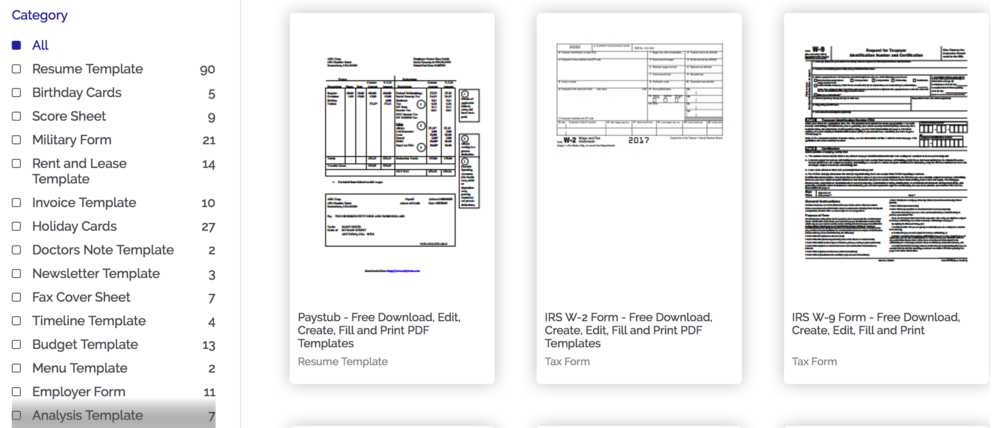 PDFelement's extensive template library gives you a head start in creating PDF forms