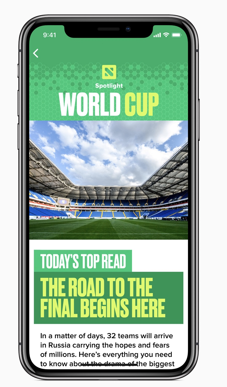 photo image Apple kicks off its plans for the 2018 World Cup tournament