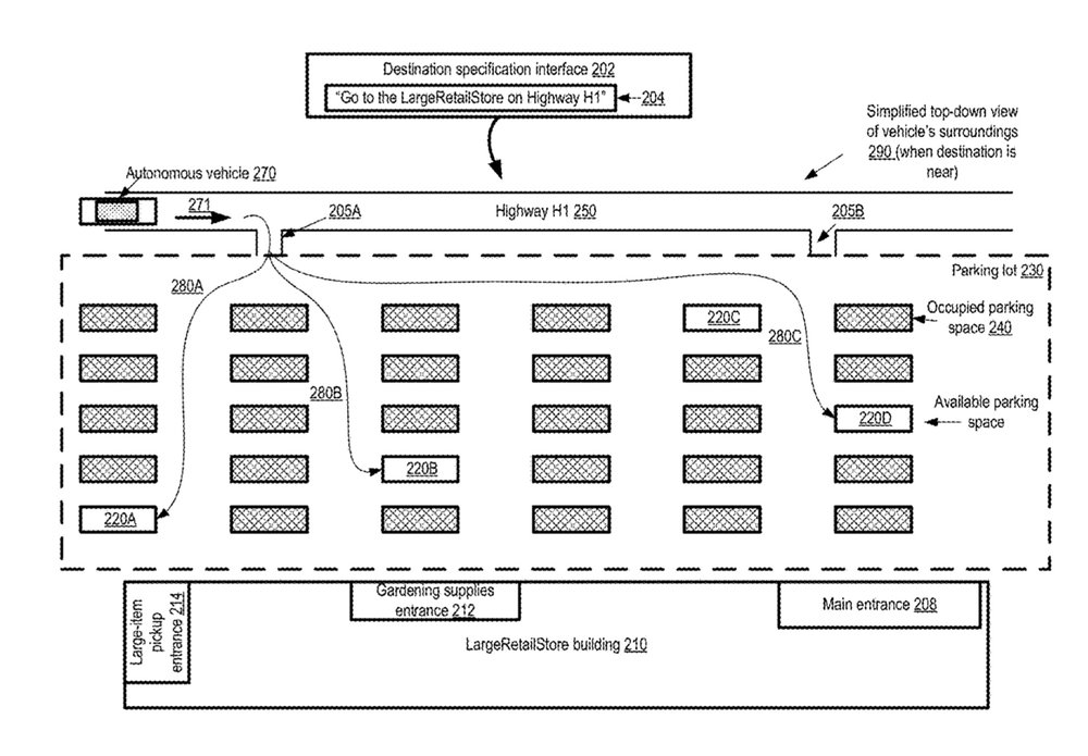 photo image Apple patent is for an autonomous vehicle guidance system