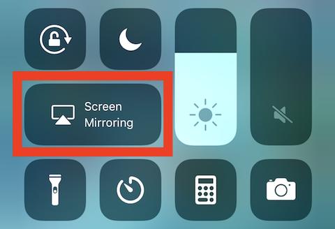 The Screen Mirroring button in iOS 11's Control Center