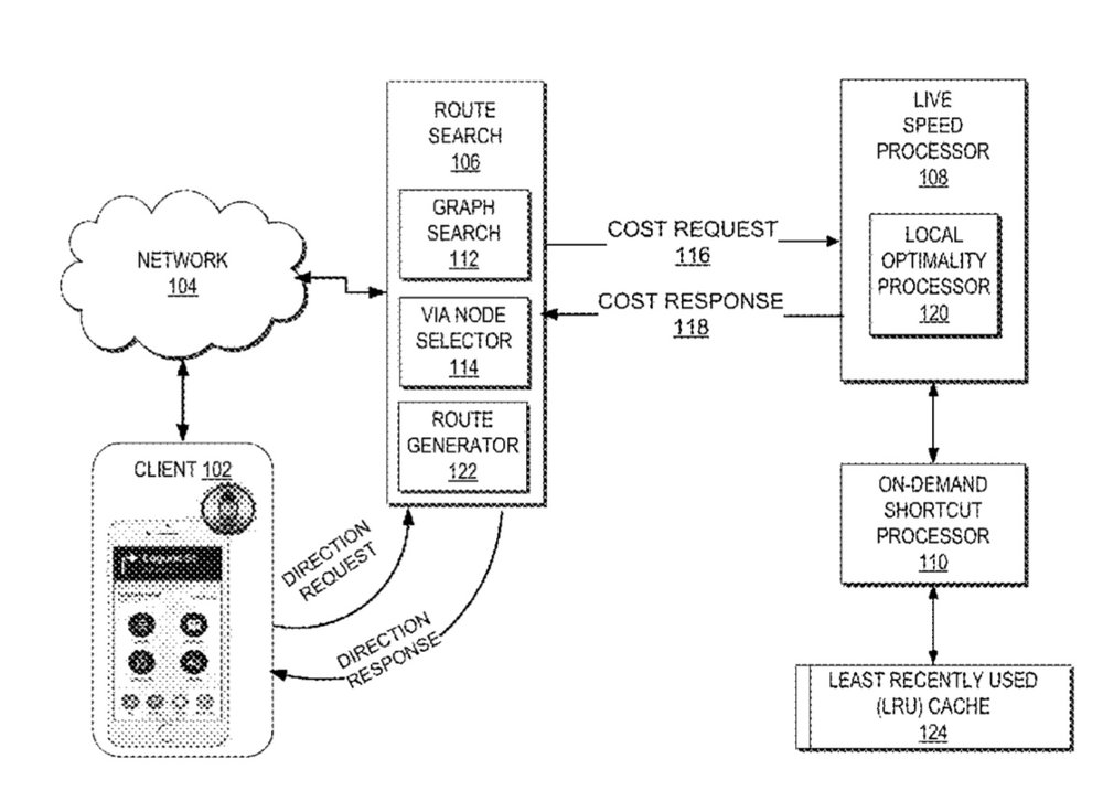 photo image Apple granted a patent for 'live traffic routing' on an iPhone, Apple Watch