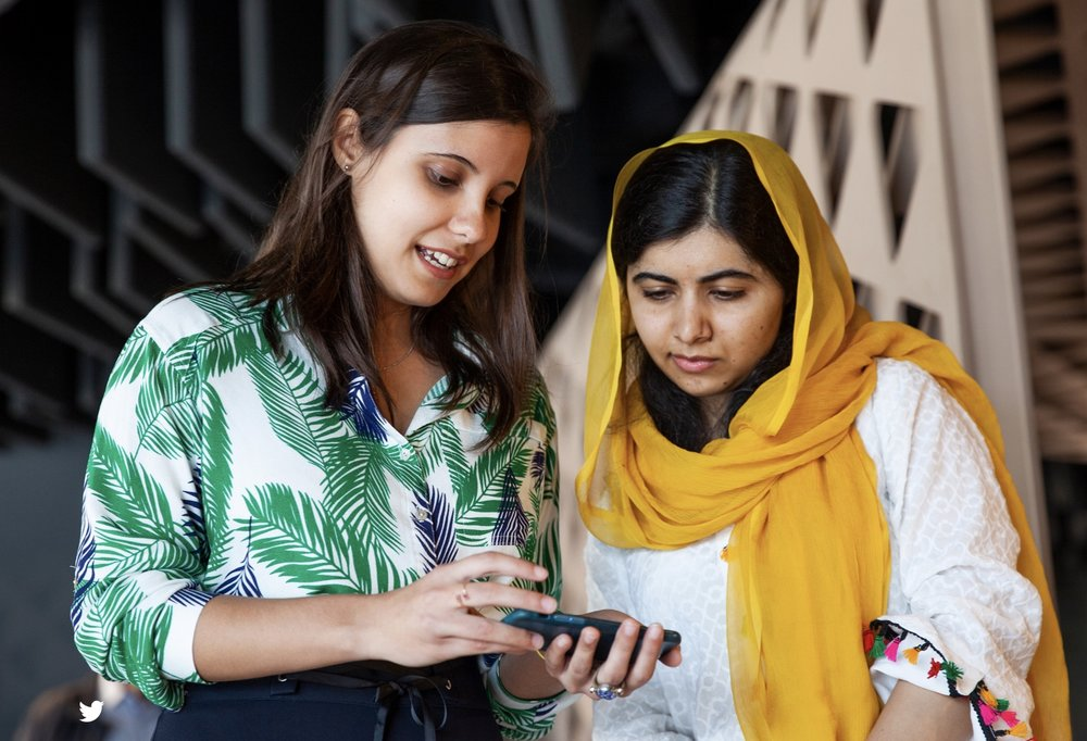 Malala Yousafzai visits the Apple Developer Academy in Rio de Janeiro on Friday, meeting with students who are learning to build apps.-- Photo courtesy of Apple
