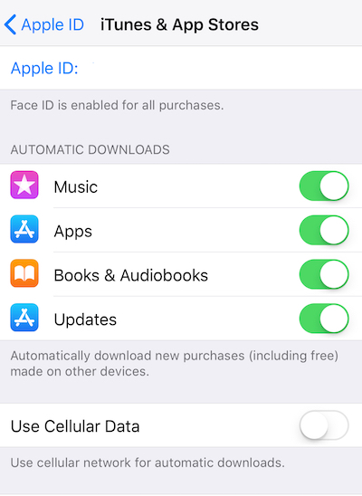 Be sure to enable automatic downloads to speed up the installation of apps and updates