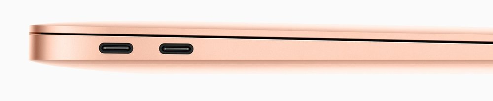 We've got your ports right here! Two Thunderbolt 3/USB-C ports. Image courtesy of Apple.