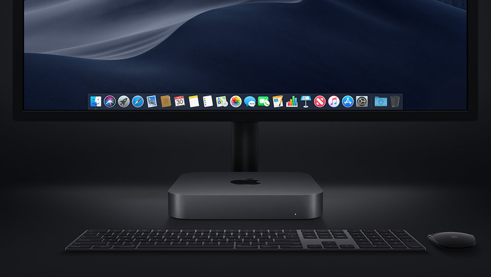 The Space Gray Mac mini. Photo courtesy of Apple