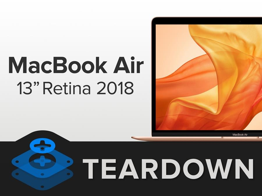 photo image iFixIt offers a teardown of the 2018 MacBook Air