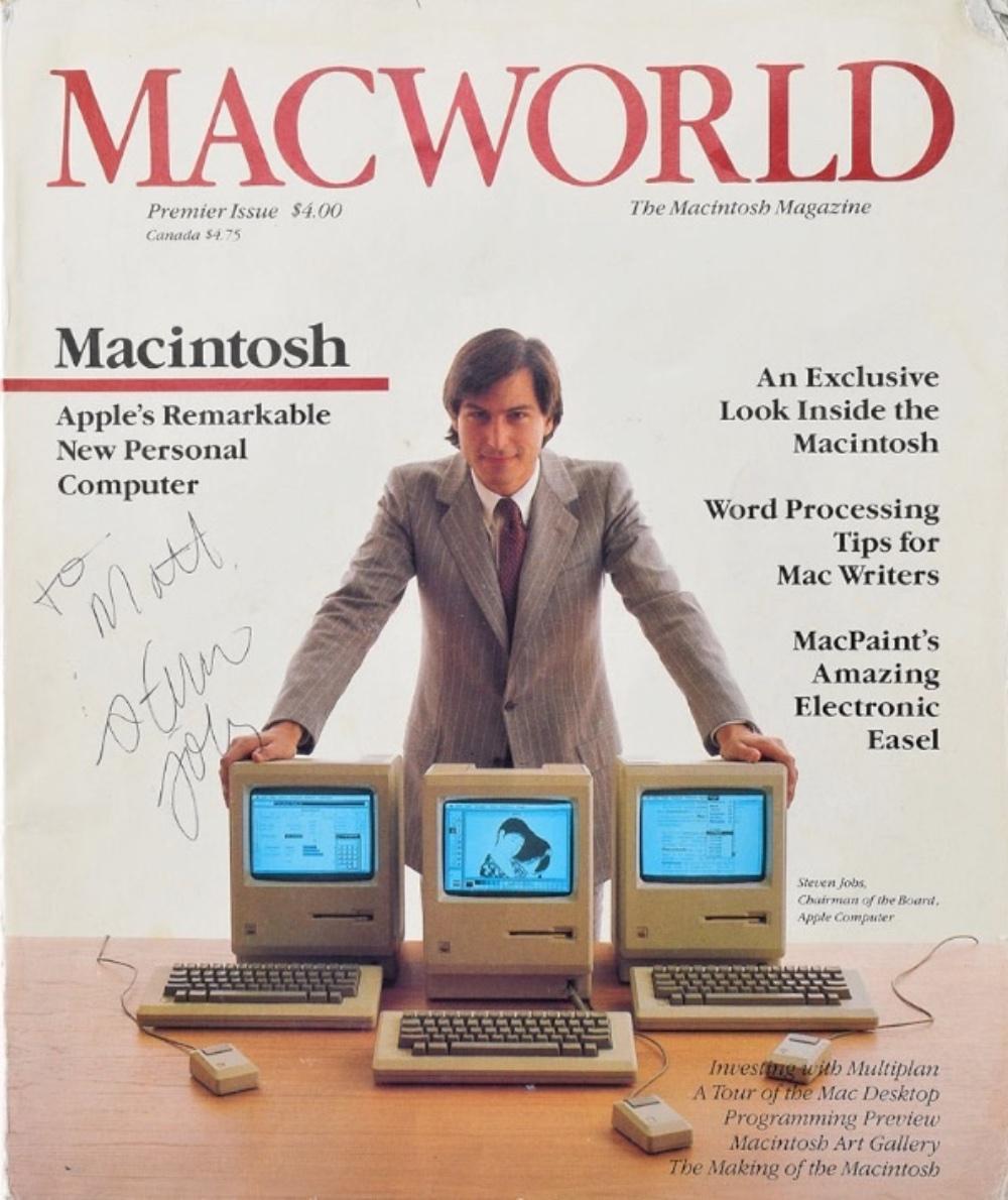 photo image Steve Jobs-signed 'Macworld' magazine up for auction