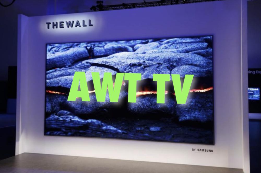 """AWT TV on a Samsung """"TheWall"""" TV? Never! Photo via Simplemost.com"""