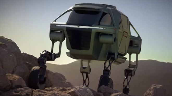 photo image If Apple wants to make a really rad vehicle, look at Hyundai's Elevate prototype