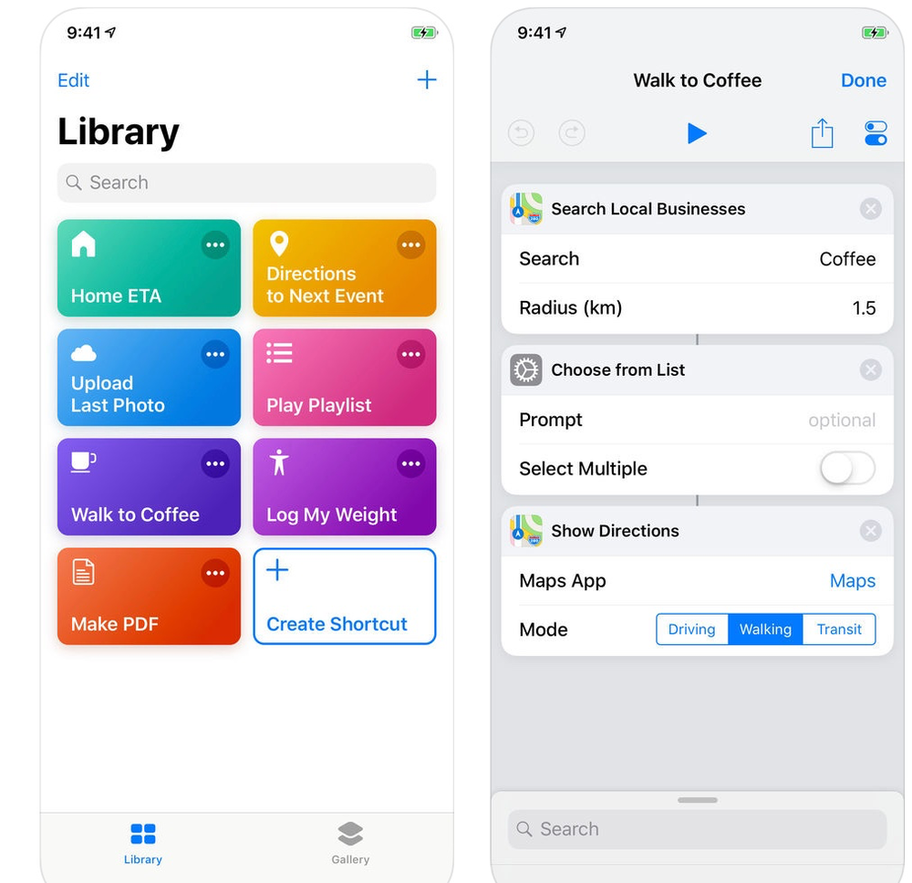 Shortcuts for iOS updated to version 2.2