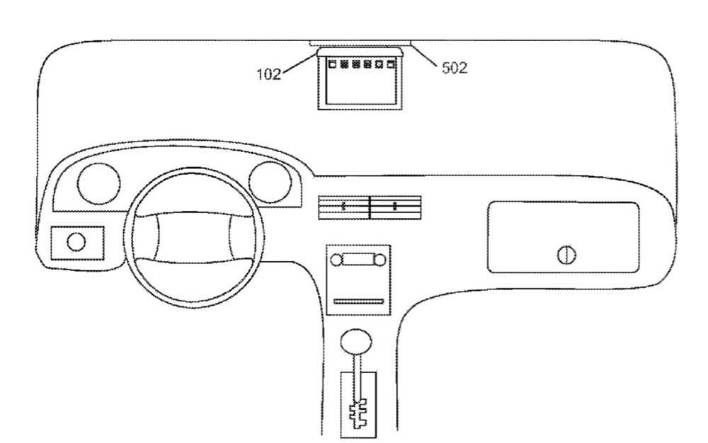 Apple patent involves an iPad tablet mounting stand that could be used in a car