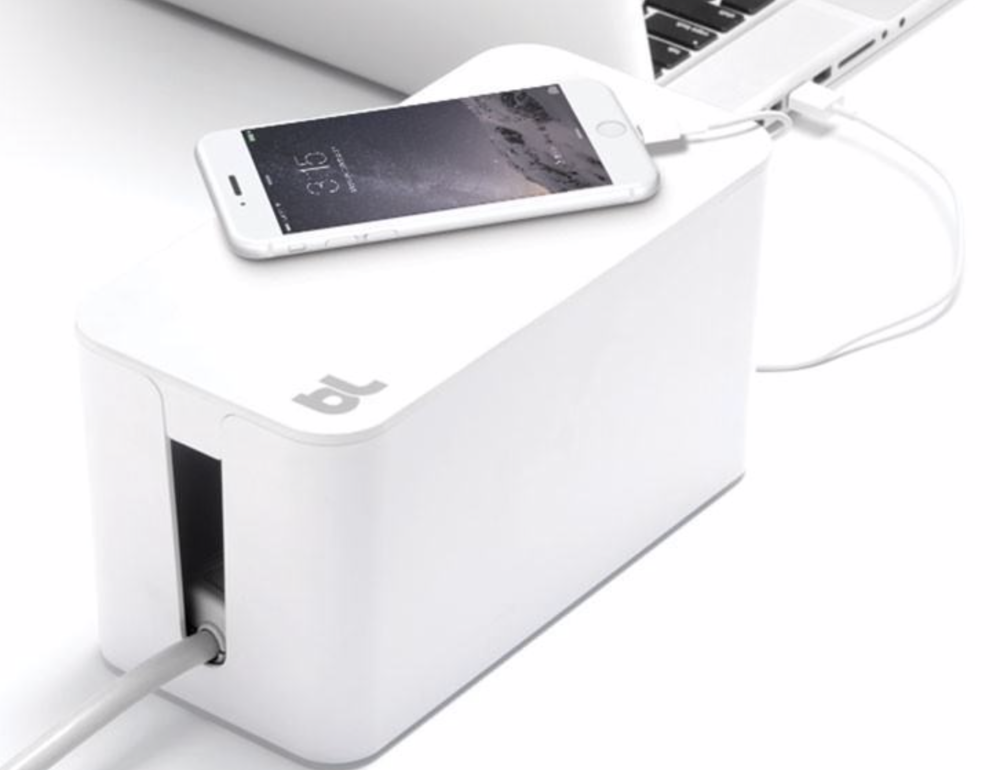 CableBox Mini helps you easily manage cable clutter