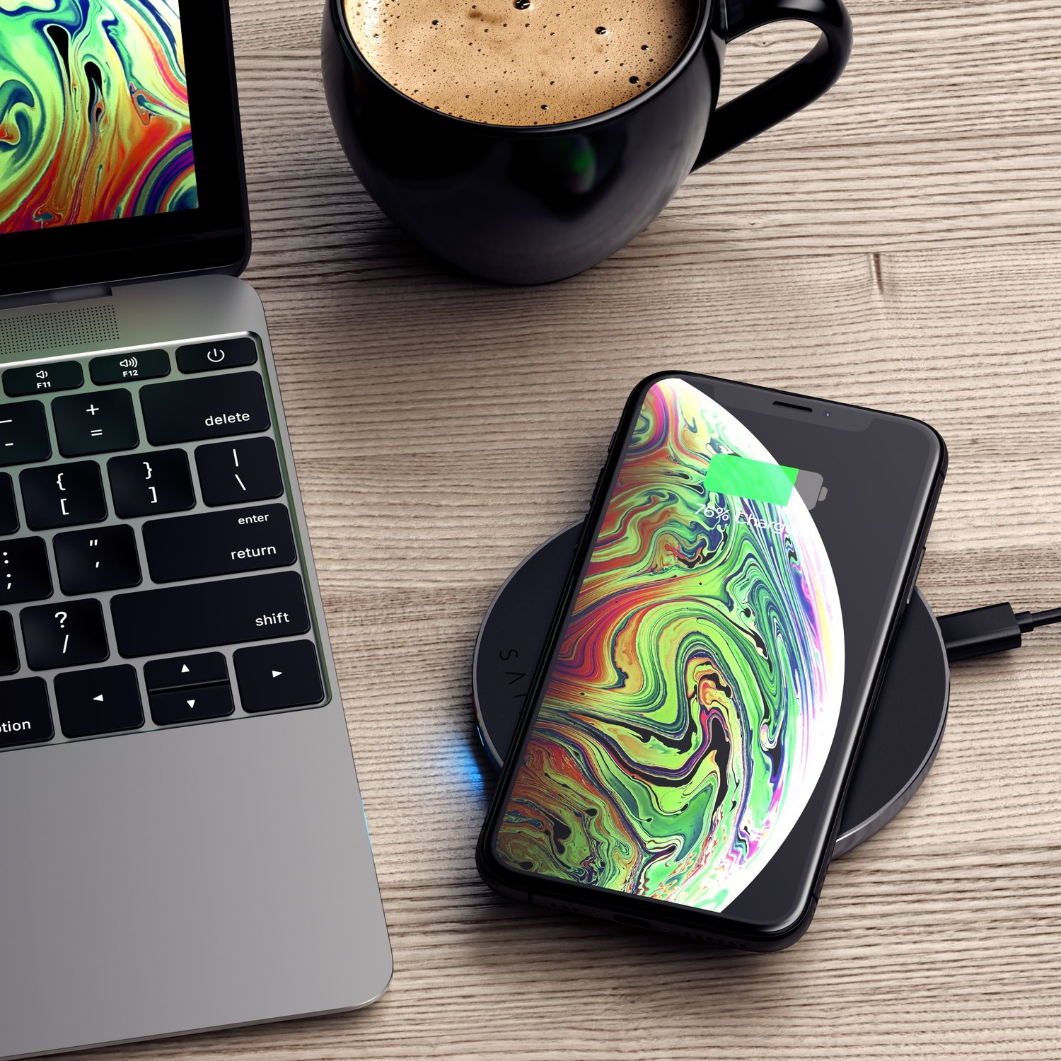 photo of Satechi Type-C PD & QC Wireless Charger is sleek, fast and USB-C image