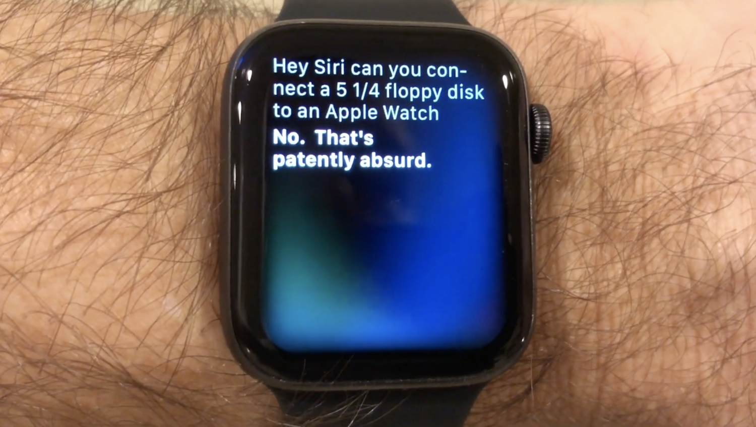 Of course you can use a 5.25-inch floppy disk with your Apple Watch!