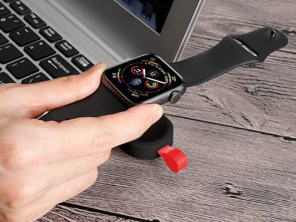 photo of Always be prepared with this Portable Keychain Apple Watch Charger image