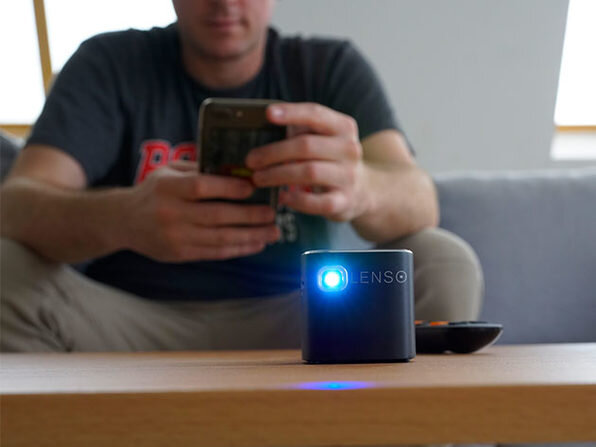 Make space in your pocket for the Lenso Cube 1080p Pocket Projector