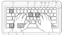 photo of Apple patent filing involves using a keyboard with 'Apple Glasses' image
