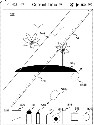 photo of Apple patent filing involves a virtual drawing aid for CAD features on an iPad image