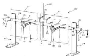 photo of Apple granted patent for a dual display stand for monitors image