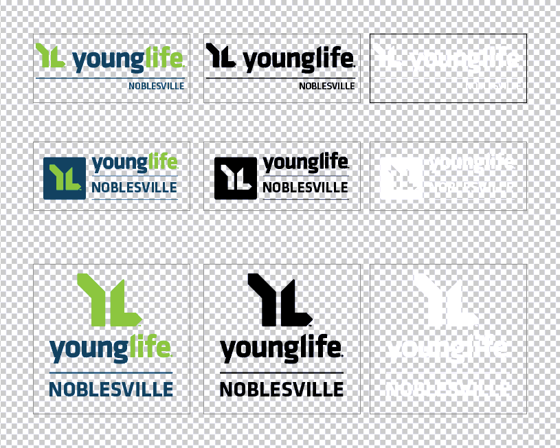 Noblesville Young Life sample logo set