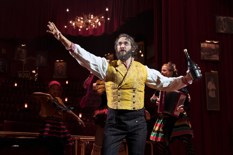 "Josh Groban as Pierre in the musical ""Natasha, Pierre & The Great Comet of 1812"" at the Imperial Theater.   CreditSara Krulwich/The New York Times"