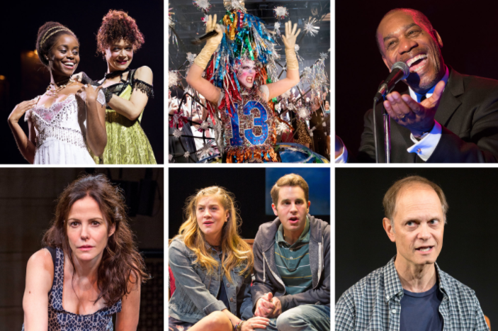 "Clockwise from top left, Denée Benton and Amber Gray in ""Natasha, Pierre & The Great Comet of 1812""; Taylor Mac in ""A 24-Decade History of Popular Music""; Joe Morton in ""Turn Me Loose""; David Hyde Pierce in ""A Life""; Laura Dreyfuss and Ben Platt in ""Dear Evan Hansen""; and Mary-Louise Parker in ""Heisenberg.""  CreditPhotographs by Sara Krulwich/The New York Times; Richard Termine for The New York Times (""Heisenberg"")"