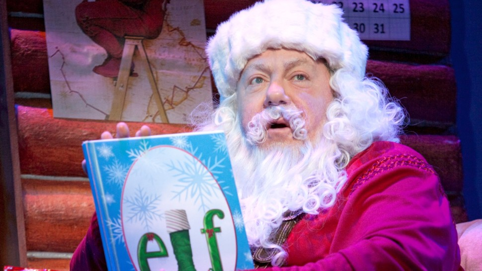 GEORGE WENDT as Santa in the Original Broadway Production of  ELF The Musical  Joan Marcus