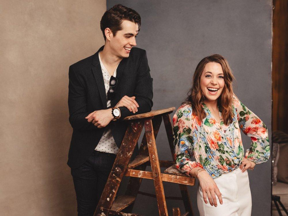 Kyle Selig & Erika Henningsen (Photo: Emilio Madrid-Kuser for Broadway.com)
