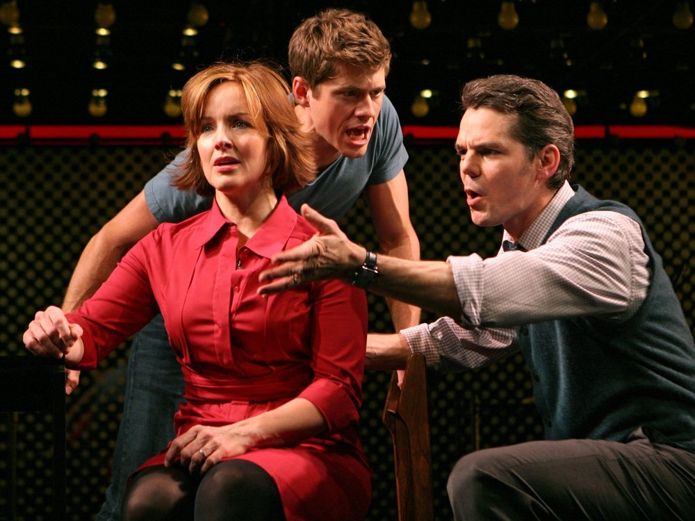 "Alice Ripley, Aaron Tveit & J. Robert Spencer in ""Next to Normal"" on Broadway in 2009 (Photo: Joan Marcus)"