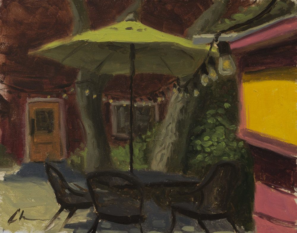 """Color Study: Afternoon Coffee"", 8x10, oil on panel"