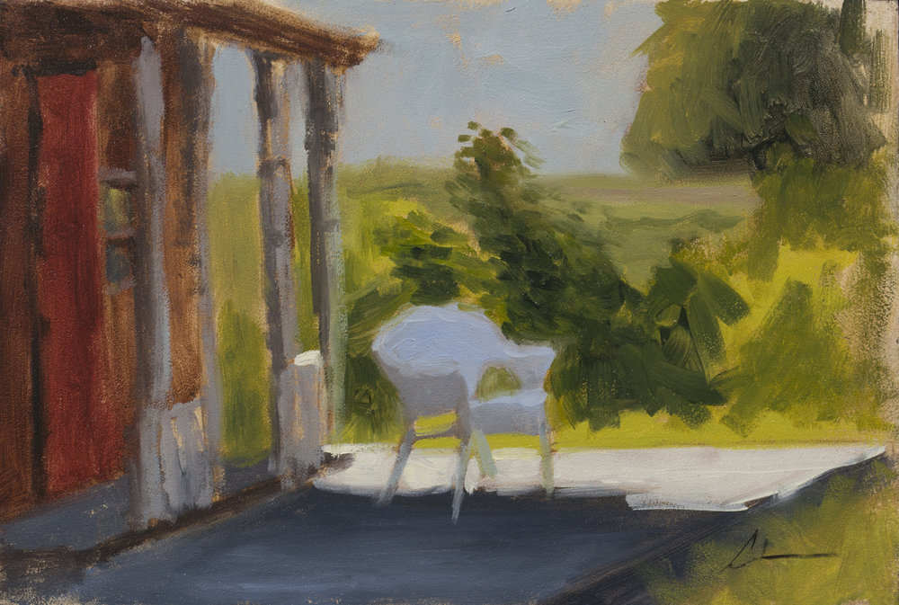 """Color Study: Front Porch"", 8x10, oil on panel"