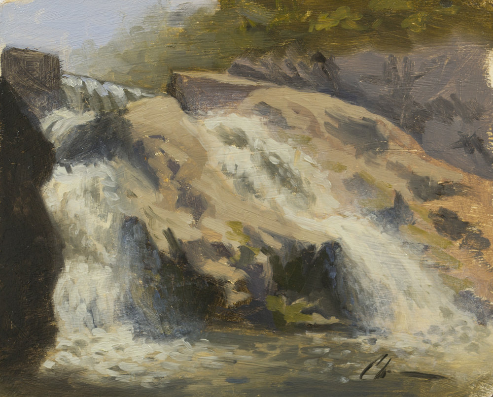 """Color Study: Rumbling Water"", 6-1/2x8, oil on panel"