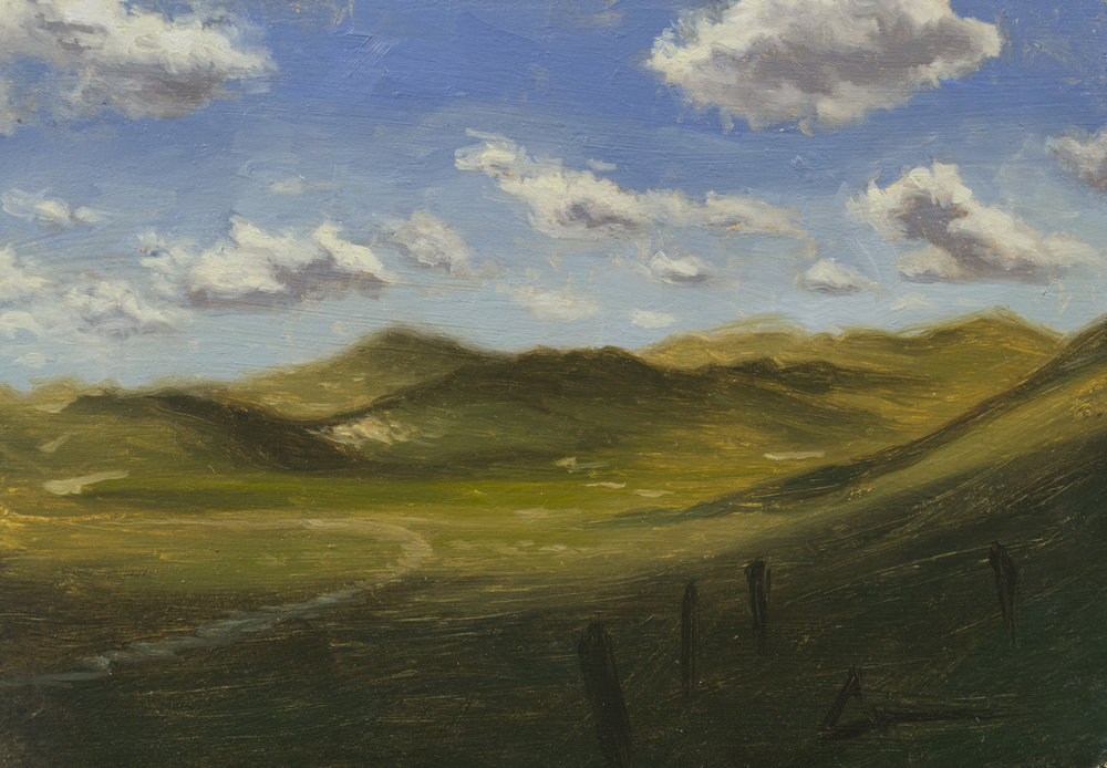 """Color Study: Dunes"", 5x7, oil on panel; please direct inquiries to  Regency Parkway Art"